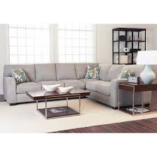 Light gray living room furniture Gray Pink Gold Abbott 2piece Fabric Sectional Costco Wholesale Living Room Furniture Costco