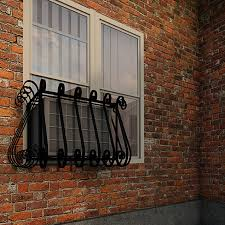 European Iron Air Conditioning Cover / Window Guard - Balcony Store
