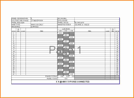 Electrical Panel Schedule Excel New Template Of Free Label