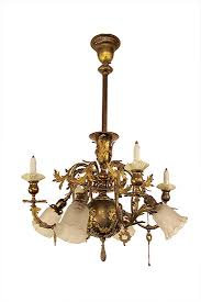 antique gas electric chandelier