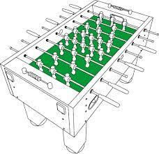 standard foosball table size