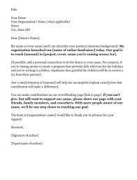 exle of an donation request letter