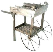 antique cart wheels wooden tea carts industrial service trolley with vintage garden replacement rubber