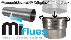 connect fix adapter to flue liner