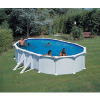Perfect Piscine Hors Sol Start Ovale 6.10x3.75m H 1.20m Filtre Sable