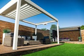 aluminium pergolas with louvered roofs