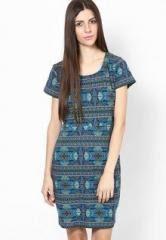 Jealous 21 Short Sleeve Blue Dress For Women Price In India