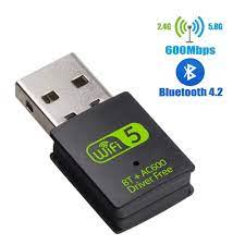 USB WiFi Bluetooth Adapter 600Mbps Dual Band 2.4/5Ghz Wireless External  Receiver Mini WiFi Dongle for PC/Laptop/Desktop