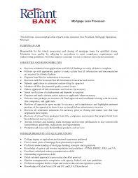 Loan Processor Job Description Template Mortgage Loansor Resume