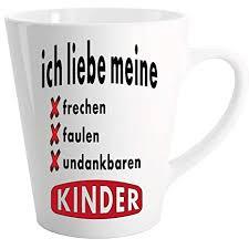 Lustige Sprüche Tasse Latte Becher Weiss Freche Faule Kinder