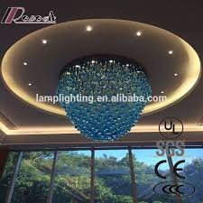 customized blue glass drop european style glass chandeliers for hotels