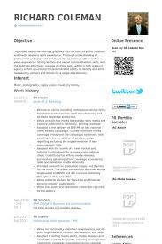 Pr Intern Resume Samples Visualcv Resume Samples Database
