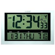 large display digital wall clock thermometer atomic full image for innovative led circuit