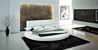 cool furniture for bedroom. Round Bed And Black Carpet Rug From Modern Bedroom Furniture Decorating Room With Concrete Flooring Cool For