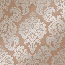Gold Damask Background Henderson Interiors Kensington Textured Damask Speedyhang Wallpaper Rose Gold