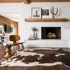 Small cow hide rugs Living Room Rugs More Natural Genuine Cow Hide Rug Brown 200x200cm Approx Rugs More