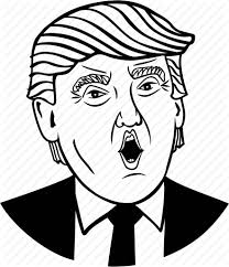 trump line drawing at getdrawings