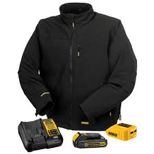 dewalt 12v battery lithium ion. dewalt unisex medium black 20-volt or 12-volt max heated work jacket kit with lithium-ion battery and charger-dchj060c1-m - the home depot dewalt 12v lithium ion k