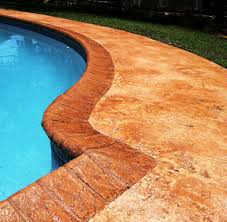 Decorative Concrete Overlay Sundek Sunstamp Decorative Concrete Overlay System For A Pool Deck