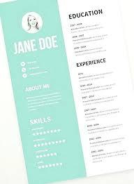 Modern Creative Resume Template Creative Design Resume Template Biofonika Info