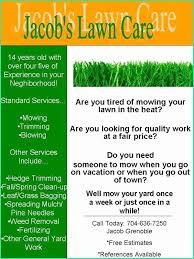 Lawn Care Flyer Template Word 50 Best Of Free Lawn Mowing Flyer Template Speak2net Com