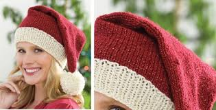 Santa Hat Knitting Pattern
