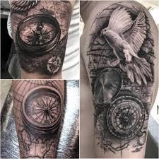 тату компас сюжеты и эскизы тату с компасом Tattoo Ideasru
