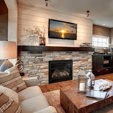white stone fireplace painted ideas stacked pictures