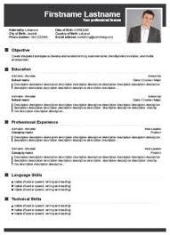 Resume Builder Templates 8 Free CV Cv
