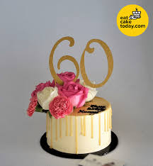 60th Birthday Cake Customize Eat Cake Today Delivery Klpj