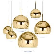 mirror ceiling light modern mirror globe glass ball pendant ceiling light fixture copper silver gold mirror