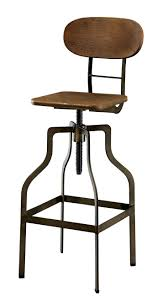 gorgeous rustic brown leather swivel bar stool with back and arms metal wood in wooden swivel bar stools
