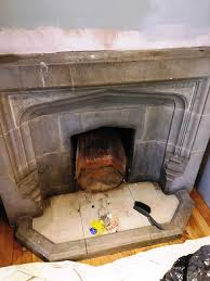 restorative cleaning of a stone fireplace in brighton east sus tile doctor