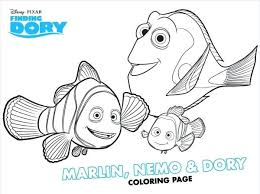 Nemo Colouring Coloring Pages Coloring Page Crush And Squirt