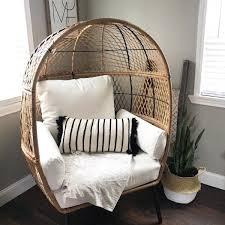 wicker egg chair