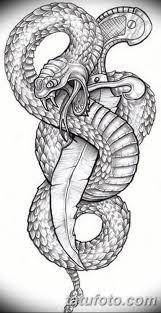 черно белый эскиз тату змея 11032019 015 Tattoo Sketch