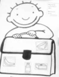 Kleurplaat Jules Met Boekentas 25 Beste Ideen Over Terug Naar School