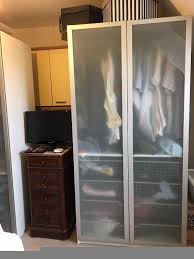 Ikea Pax Room Divider Ikea Pax Double Wardrobe With Frosted Glass Doors In Bourton On