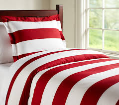 rugby stripe duvet cover twin red