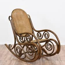 art nouveau thonet inspired bentwood rocker loveseat vintage rocking chair furniture san go gaming outdoor