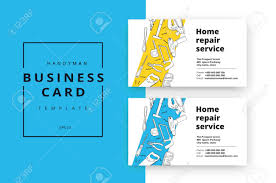 Business Id Template Home Improvement Corporate Business Card With Repair Tools House