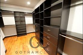 black walk in closet