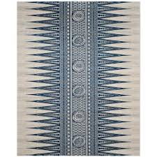 evoke ivory blue 8 ft x 10 ft area rug