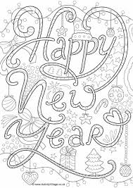 Small Picture New Year Colouring Pages