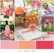 peach wedding colors. Pink Peach Melon Wedding Color Inspiration