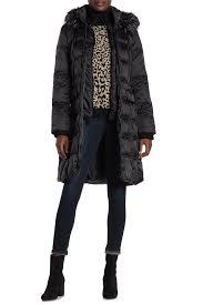 Kensie Faux Fur Trim Hoodie Quilted Coat Hautelook
