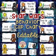 Star Wars Behavior Chart Editable Star Wars Behavior Clip Chart