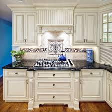 blue kitchen backsplash dark cabinets. Kitchen : Cream Cabinets Dark Blue Exclusive Design Accent Backsplash M