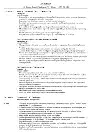 Customer Quality Engineer Sample Resume Customer Quality Engineer Resume Samples Velvet Jobs 6