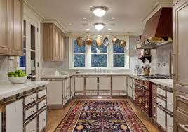 kitchen carpets room size oriental rug in a red and white la cornue kitchen